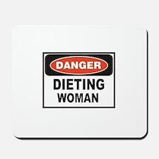 dieting woman fun Mousepad