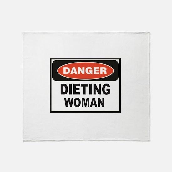 dieting woman fun Throw Blanket