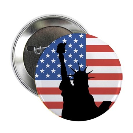 """Land of the Free Statue 2.25"""" Button"""