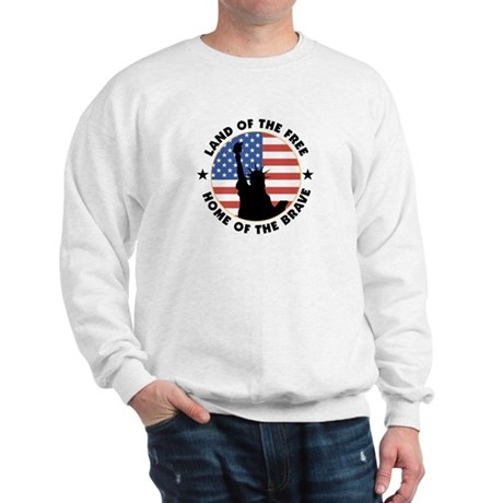 Land of the Free Statue Sweatshirt