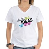 Colorless green ideas sleep furiously Womens V-Neck T-shirts