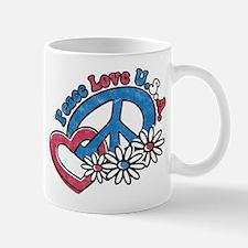 Peace Love USA Small Small Mug