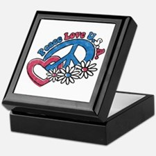 Peace Love USA Keepsake Box