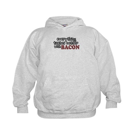 Tastes Better with Bacon Kids Hoodie