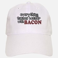Tastes Better with Bacon Baseball Baseball Cap
