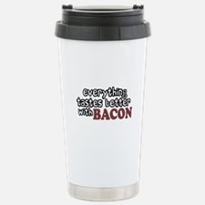 Tastes Better with Bacon Stainless Steel Travel Mu