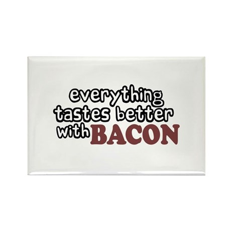 Tastes Better with Bacon Rectangle Magnet (10 pack