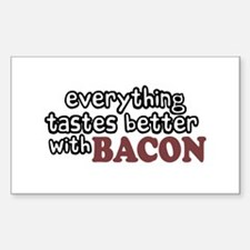 Tastes Better with Bacon Rectangle Decal