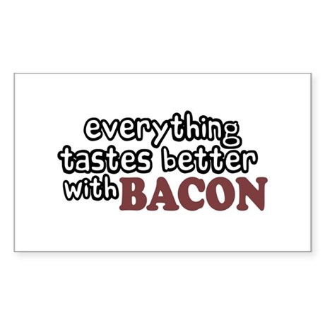 Tastes Better with Bacon Rectangle Sticker