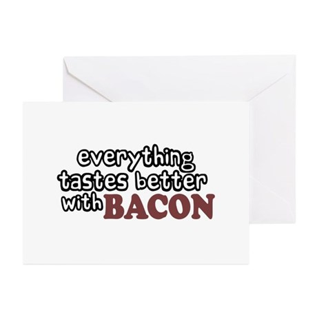 Tastes Better with Bacon Greeting Cards (Pk of 20)