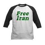 Free Iran Kids Baseball Jersey