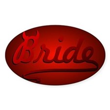 Evil Bride Oval Decal
