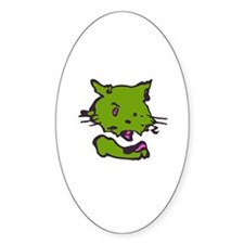 """another """"kittycafe"""" Oval Decal"""