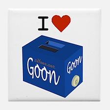 I Love Goon Tile Coaster