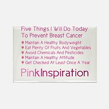 Cute Breast cancer awareness walk Rectangle Magnet