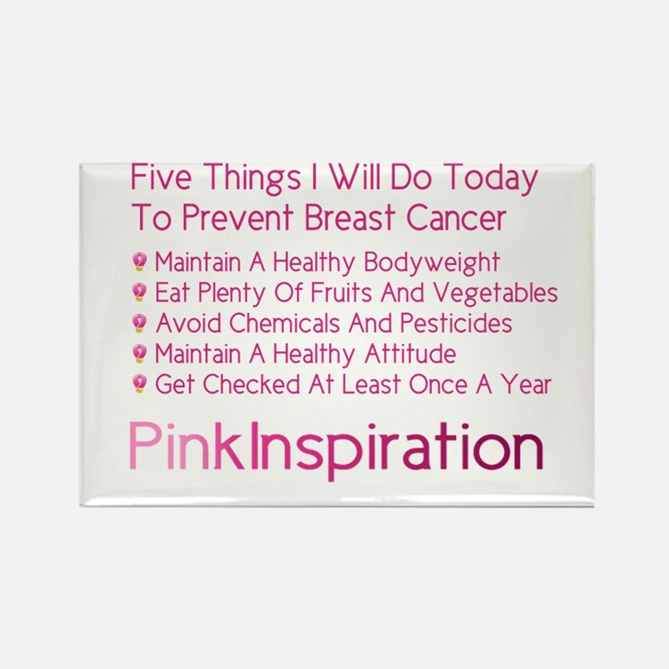 Cute Breast cancer 3 day Rectangle Magnet