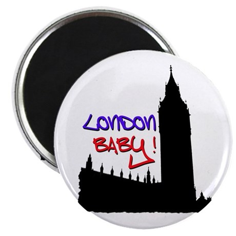 London Baby Friends white Magnet