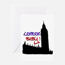 London Baby Friends white Greeting Card
