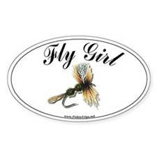 Fly Girl Oval Decal