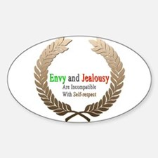 Envy and Jealousy Oval Decal
