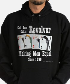 Colt Revolver Dark Hooded Sweatshirt