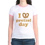 I Pretzel Pretzel Day Jr. Ringer T-Shirt