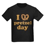 I Pretzel Pretzel Day Kids Dark T-Shirt