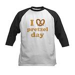 I Pretzel Pretzel Day Kids Baseball Jersey
