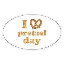 I Pretzel Pretzel Day Oval Decal
