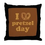 I Pretzel Pretzel Day Throw Pillow