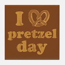 I Pretzel Pretzel Day Tile Coaster