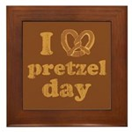 I Pretzel Pretzel Day Framed Tile