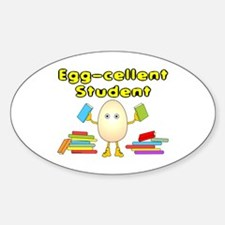 Egg-cellent Student Oval Decal