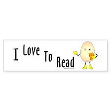 Love To Read Bumper Sticker