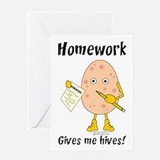 Homework Greeting Card