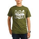My Dad Rocks Organic Men's T-Shirt (dark)