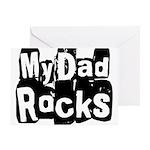 My Dad Rocks Greeting Card