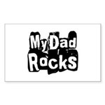 My Dad Rocks Rectangle Sticker 10 pk)