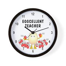 Eggcellent Teacher Wall Clock