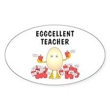 Eggcellent Teacher Oval Decal