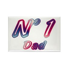 No 1 Dad Rectangle Magnet
