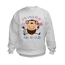 My 1st 4th Boy Monkey Sweatshirt