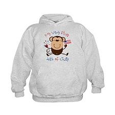 My 1st 4th Boy Monkey Hoodie