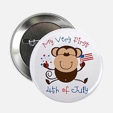 """My 1st 4th Boy Monkey 2.25"""" Button"""