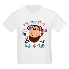 My 1st 4th Girl Monkey T-Shirt