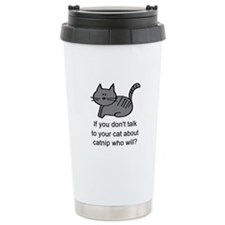 Talk to your cat Thermos Mug