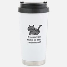 Talk to your cat Travel Mug
