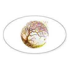 Autumn Oval Decal