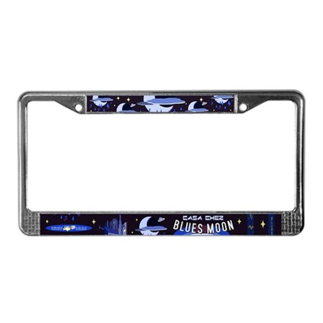 blues moon License Plate Frame
