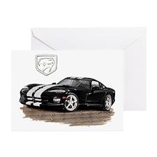 Viper Black/White Car Greeting Cards (Pk of 10)
